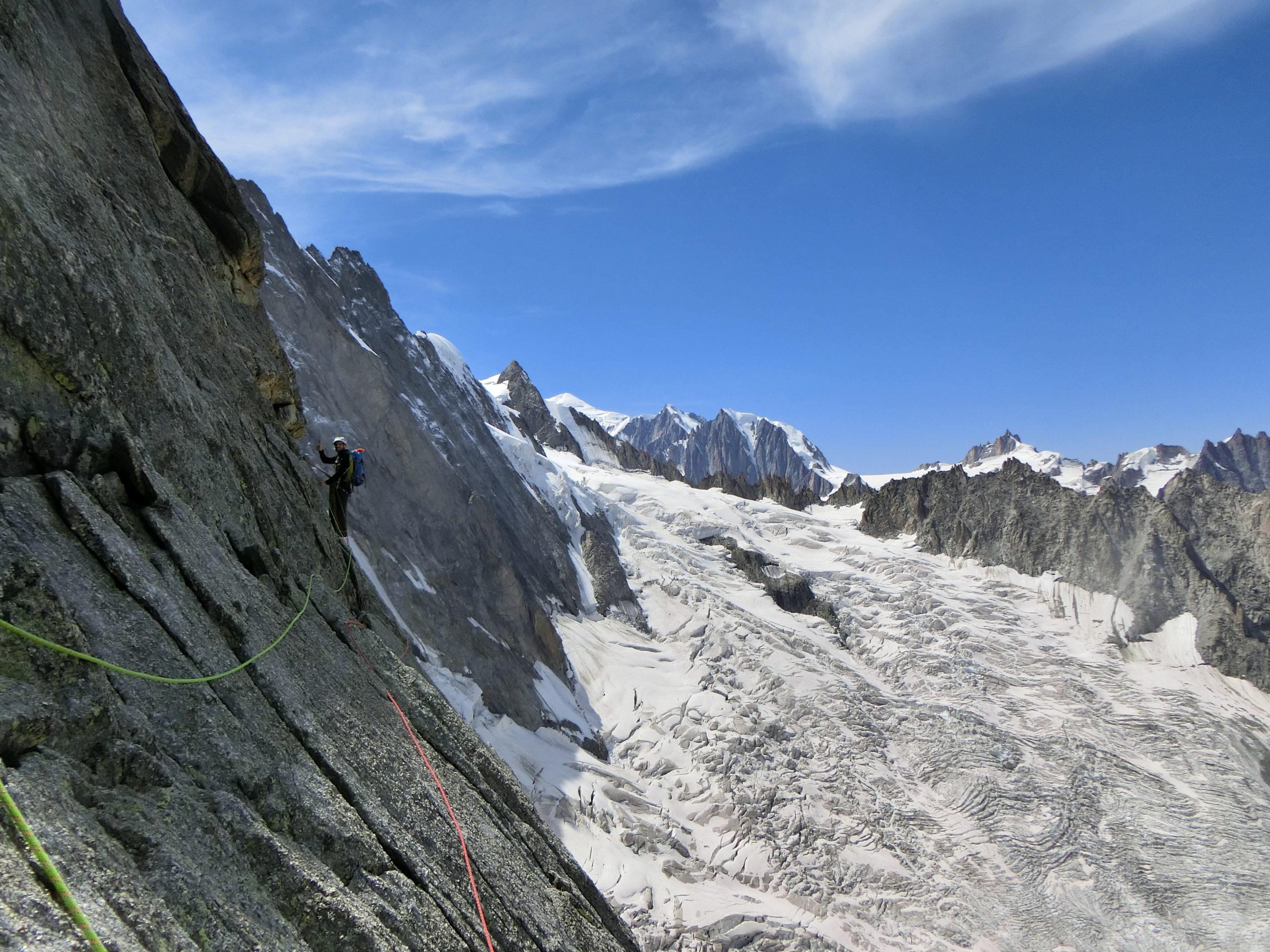 Escalade en terrain glaciaire