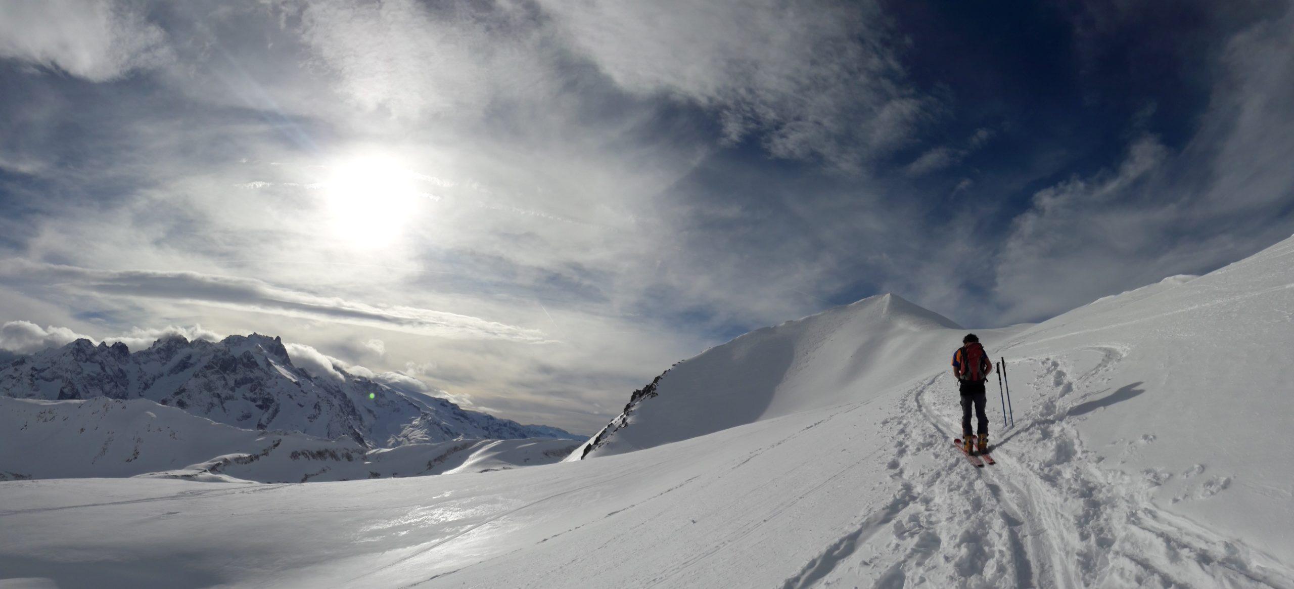 Fin de journée en ski de randonnée
